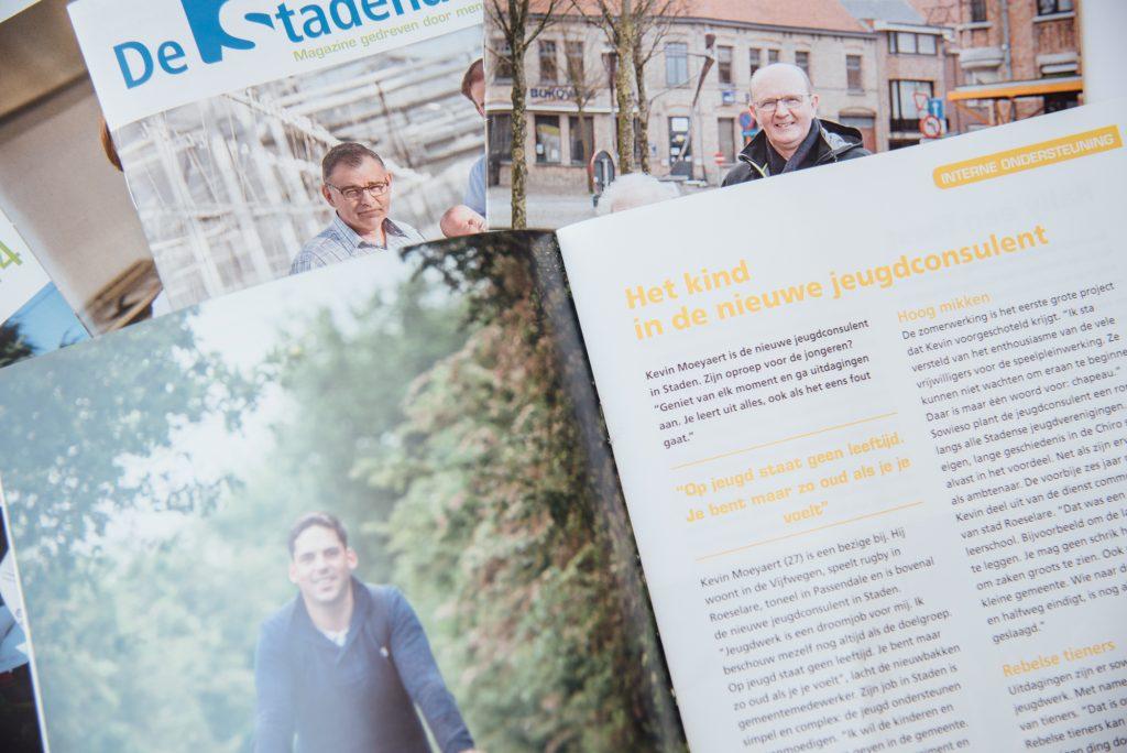 copywriting teksten gemeentemagazine gemeenteblad interviews evenementen nieuws inwoners bliksem schrijfbureau kortrijk